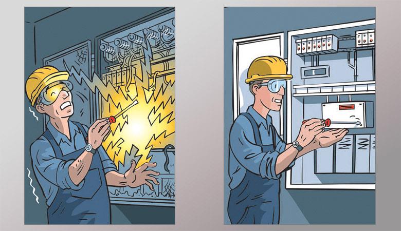Ασφάλεια τεχνικού στον ανελκυστήρα