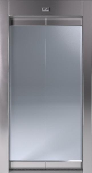 Αυτόματη Πόρτα Δίφυλλη Κεντρικού Ανοίγματος Full Glass KLEEMANN - Alexiou Group